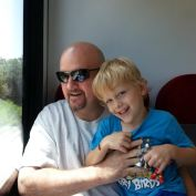 Zach and Daddy_train